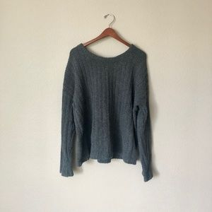 Gap Gray Fuzzy Sweater